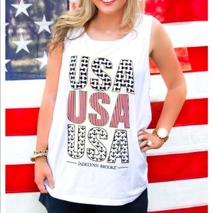 """💥🇺🇸💥USA Tanktop! """"United States of Awesome"""""""